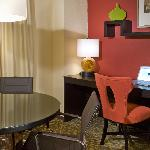 Premiere Suites feature an extra large work area and conference table
