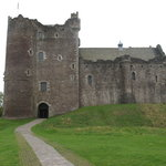 "Old Scottish castle, also known as shoot location for ""Monty Python and the Holy Grail."""