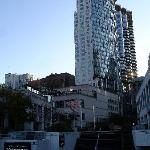 Blick vom Canada Place auf das Hotel