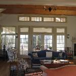 Sitting room and new veranda