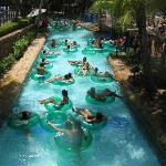 Lazy river absolutely crowded