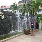 The beachside entrance