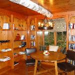 library/breakfast nook in Chalet Cottage