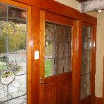 front door to Chalet Cottage