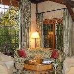 Seating nook in main house living room