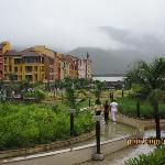 Hotel's Garden and Beautiful fog as a topping!!
