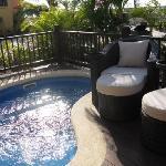 Villa deck plunge pool