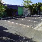 Parking lot when we arrived