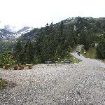 Wir sind mit der Alpspitzbahn zu der neuen Aussichtsplattform hoch gefahren und dann ein wenig g