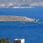 Seaplane landing between Gozo and Comino, taken from our terrace