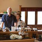 Gerard and Bernie in their gorgeous kitchen