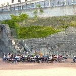 The amphitheater with childrens performance