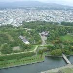 View from Goryokaku Tower
