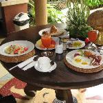 Wonderful breakfast @ The Villas Bali