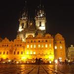 Night time in the old town square