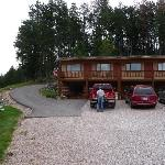 owner, lodge, and road to cabins