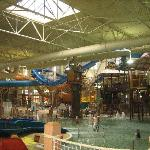 The waterpark was MASSIVE! Lots of fun for grownups too!