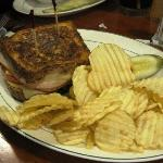 One of the grilled sandwiches
