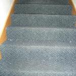 stairs..look like they haven't been cleaned in weeks