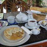 Fantastic banana pancakes, just one of the many items on the breakfast menu