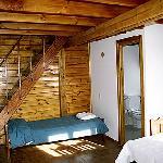 Interior cabaña alpina 1 habitación