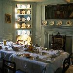 Breakfast setting at Traquair House