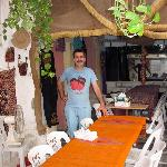 Eyad in the main dining area