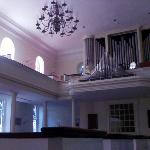 the falls church,  pipe organ, upper level
