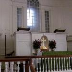 the falls church,  podium.
