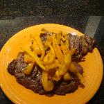 Steak dinner I cooked on the grill