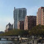 The W Hoboken(Tall white buidling)