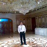 Huge Chandelier near meeting rooms
