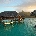 "Overwater ""bungalow"" with view of Bora Bora"