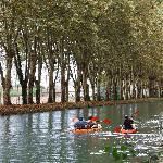 El canal en kajak