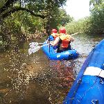 Rafting down the Sabie river