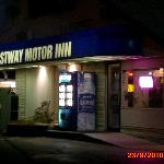 The exterior of The Hostway Motor Inn...