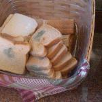 mold on bread at breakfast station