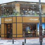 L'occitane shop with cafe on the 2nd floor