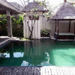 Our pool in the villa