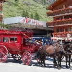 A l'arrivée du train Teasch-Zermatt