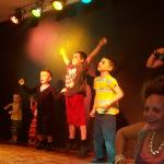 my son dancing on stage at kids disco
