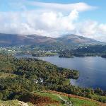 view from walking up High spy lake derwent water.
