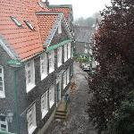 Blick aus dem Zimmer in die Altstadt