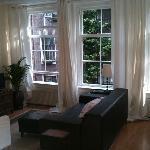 Wohnzimmer (gemeinsame Nutzung mit Gastgeberin)