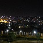 view of Kigali from Step Town balcony
