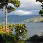 Lake George fall foliage view