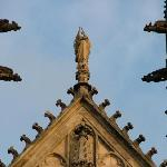 Detail from the facade of St Wenceslas' Cathedral