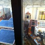 View of atrium from room window