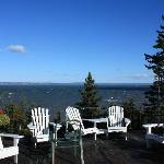 View of Bay of Fundy from the upper deck