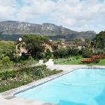 Sparkling pool behind Dongola House
